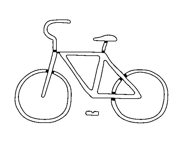 Coloriage et dessins gratuits Bicyclette simplifié à imprimer