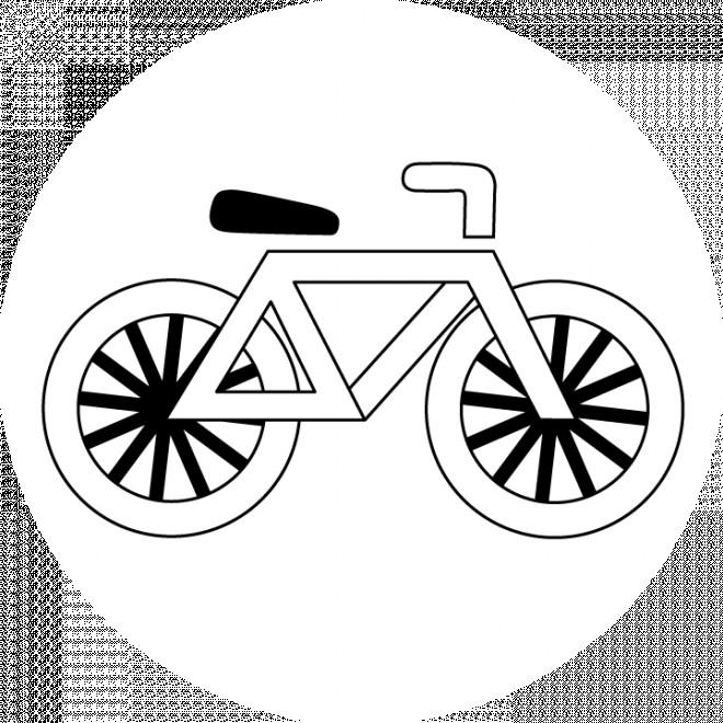 Coloriage et dessins gratuits Bicyclette stylisée à imprimer