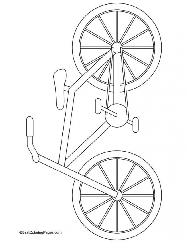 Coloriage et dessins gratuits Bicyclette stylisée à télécharger à imprimer