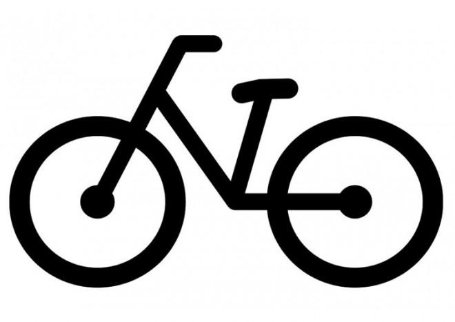 Coloriage et dessins gratuits Bicyclette vectoriel à imprimer