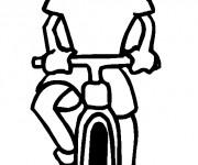 Coloriage et dessins gratuit La Fille qui conduit La Bicyclette à imprimer