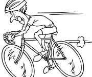Coloriage Le Cycliste rapide