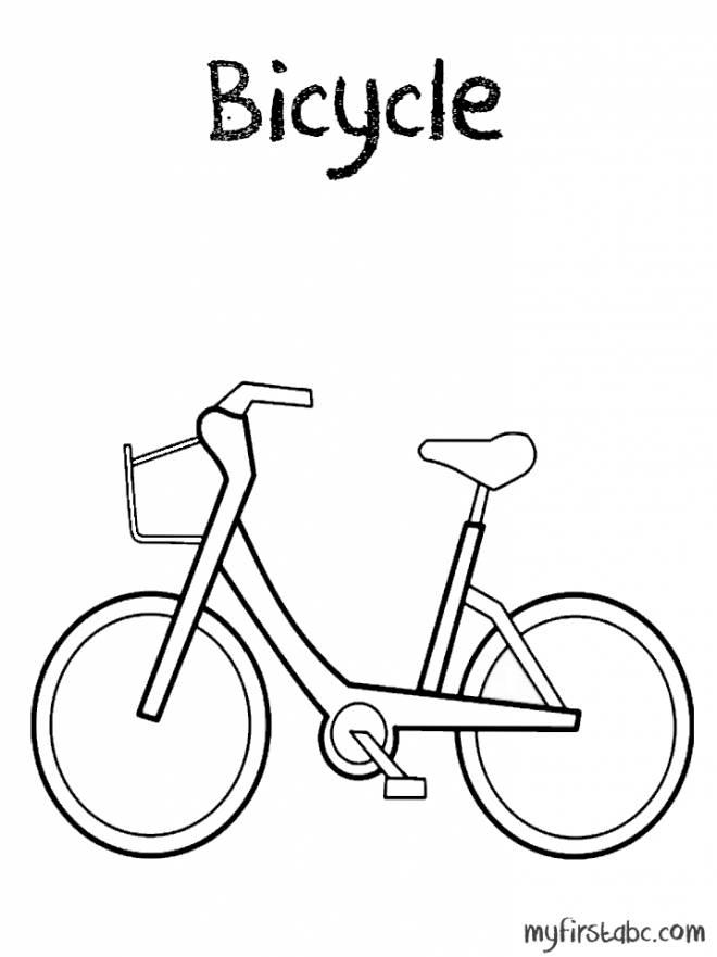Coloriage et dessins gratuits modèle bicyclette à imprimer
