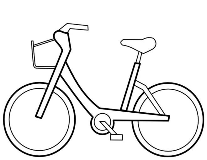 Coloriage et dessins gratuits Petite Bicyclette vectoriel à imprimer