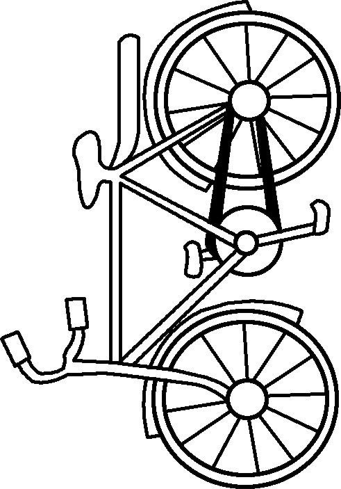 Coloriage et dessins gratuits Portrait de Bicyclette à imprimer