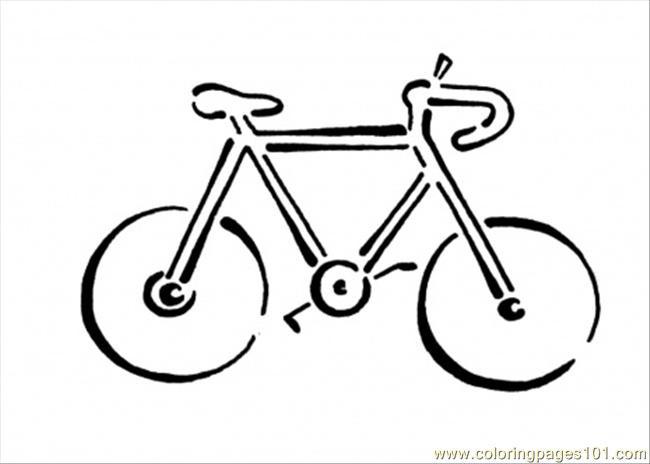 Coloriage et dessins gratuits Silhouette Bicyclette à imprimer