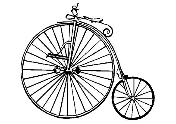 Ancienne Bicyclette coloriage une bicyclette ancienne dessin gratuit à imprimer