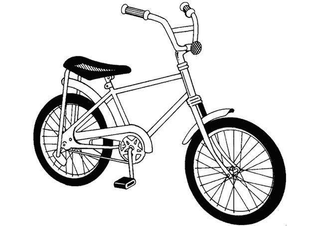 Coloriage et dessins gratuits Une Bicyclette d'Enfants à imprimer