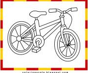 Coloriage Une Bicyclette facile