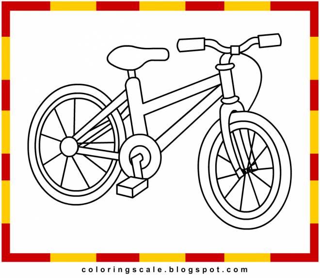 Coloriage et dessins gratuits une bicyclette facile à colorier à imprimer