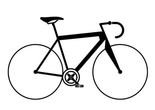 Coloriage Vélo De Course Vecteur Dessin Gratuit à Imprimer