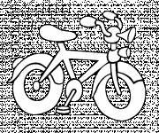 Coloriage et dessins gratuit Vélo de route facile à imprimer