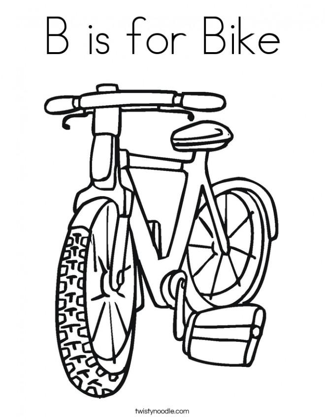 Coloriage et dessins gratuits Vélo gratuit à imprimer