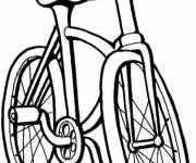 Coloriage Vélo simple VTT
