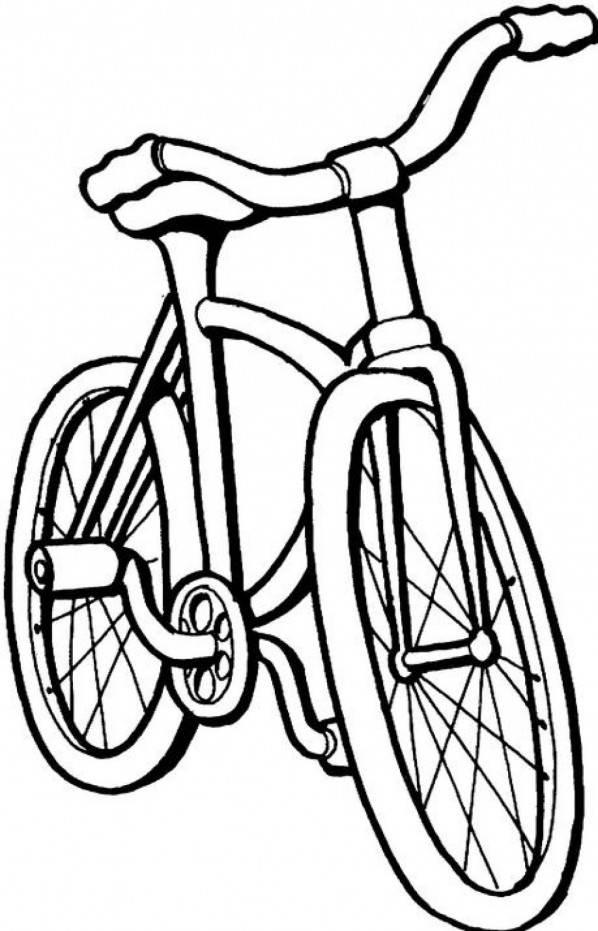 Coloriage et dessins gratuits Vélo simple VTT à imprimer