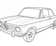 Coloriage et dessins gratuit BMW ancien modèle à imprimer