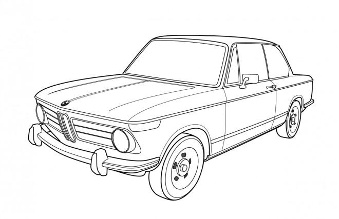 Coloriage et dessins gratuits BMW ancien modèle à imprimer