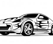Coloriage BMW ayant peinture fantastique