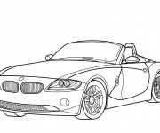 Coloriage BMW décapotable
