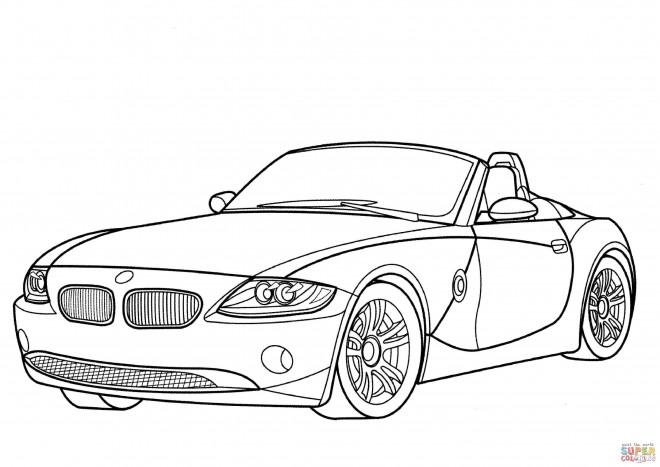 Coloriage et dessins gratuits BMW décapotable à imprimer