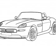 Coloriage BMW e30 Convertible