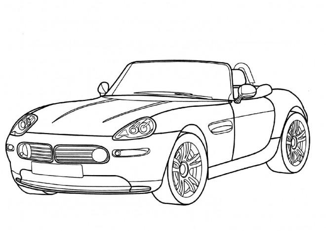 Coloriage et dessins gratuits BMW e30 Convertible à imprimer