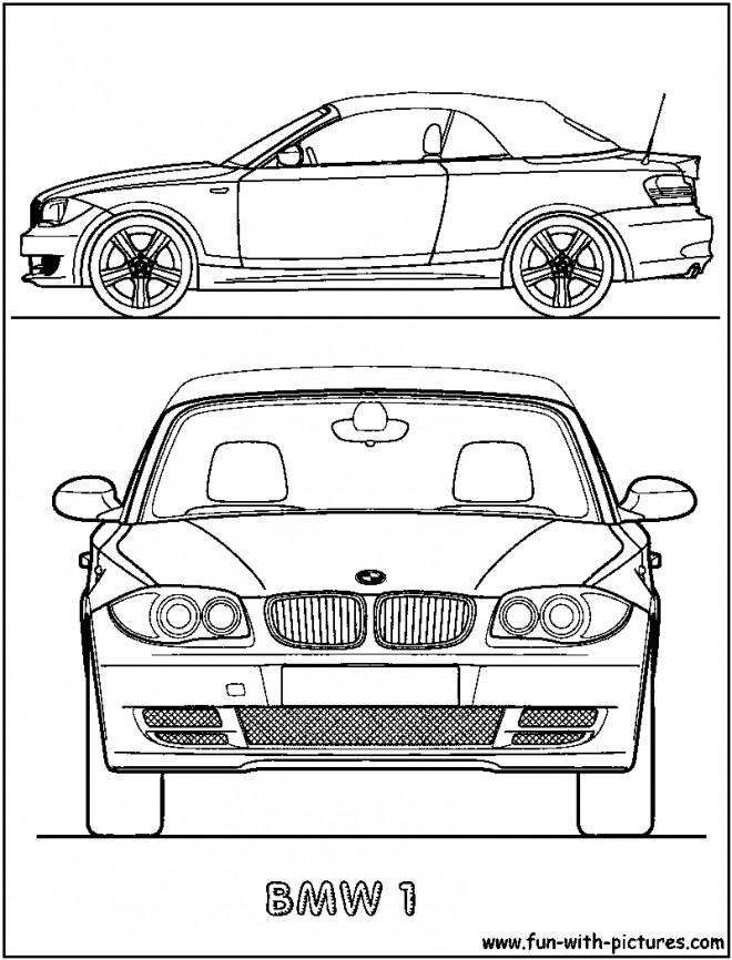 Coloriage et dessins gratuits BMW e30 convertible couleur à imprimer