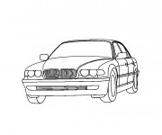 Coloriage BMW e30 facile
