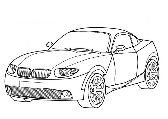 Coloriage et dessins gratuits BMW I8 à imprimer