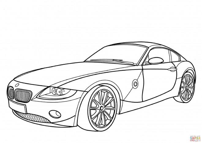 Coloriage et dessins gratuits BMW i8 à deux portes à imprimer