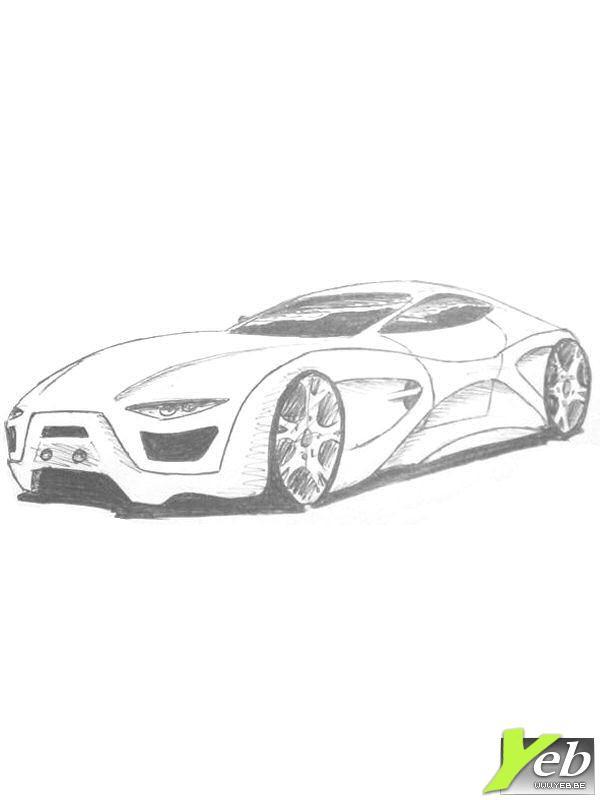 Coloriage et dessins gratuits BMW i8 au crayon à imprimer