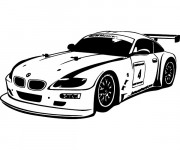 Coloriage BMW i8 de course