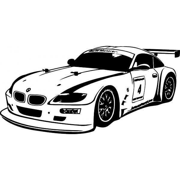 Coloriage et dessins gratuits BMW i8 de course à imprimer