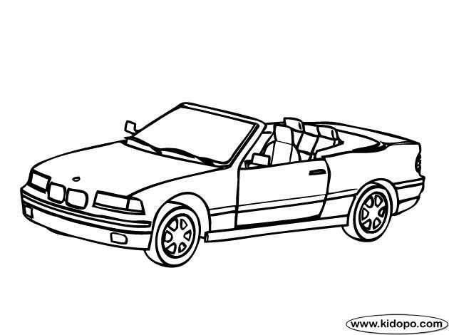 Coloriage et dessins gratuits BMW M3 décapotable à télécharger à imprimer
