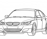 Coloriage BMW M3 stylisé