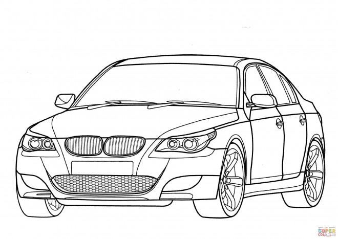 Coloriage et dessins gratuits BMW M3 stylisé à imprimer