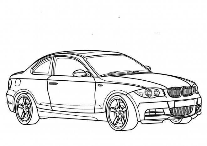 Coloriage et dessins gratuits BMW M3 vue extérieur à imprimer