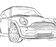 Coloriage BMW Mini Cooper