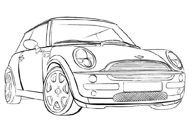 Coloriage et dessins gratuits BMW Mini Cooper à imprimer