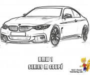 Coloriage BMW series M coupé