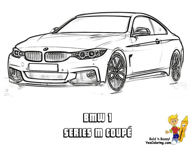 Coloriage et dessins gratuits BMW series M coupé à imprimer