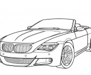 Coloriage et dessins gratuit BMW sport cabriolet à imprimer