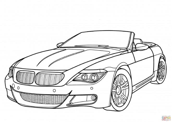 Coloriage et dessins gratuits BMW sport cabriolet à imprimer