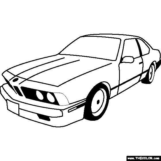 Coloriage et dessins gratuits BMW stylisé à découper à imprimer