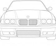 Coloriage et dessins gratuit BMW vue de face à imprimer