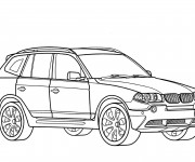 Coloriage BMW x6 à colorier