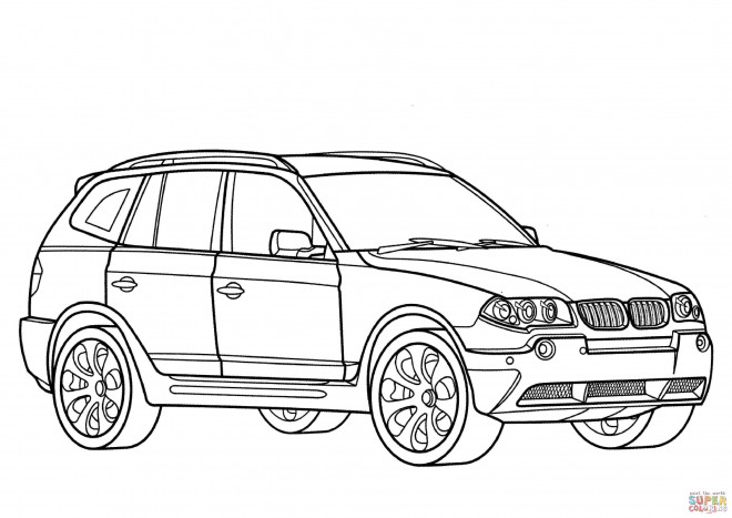 Coloriage et dessins gratuits BMW x6 à colorier à imprimer