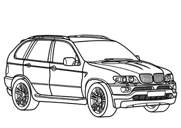 Coloriage et dessins gratuits BMW X6 en ligne à imprimer