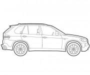 Coloriage et dessins gratuit BMW X6  vecteur à imprimer