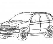 Coloriage et dessins gratuit BMW X7 à découper à imprimer